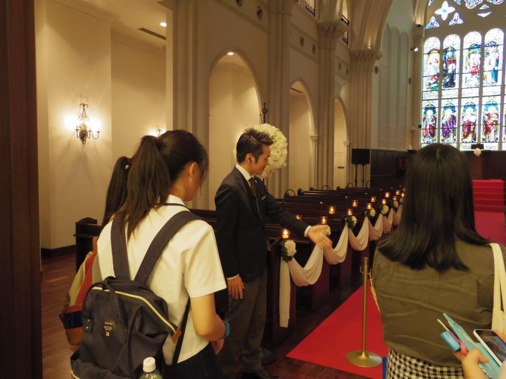 ブライダルのお仕事見学ツアー 神戸セントモルガン教会image1
