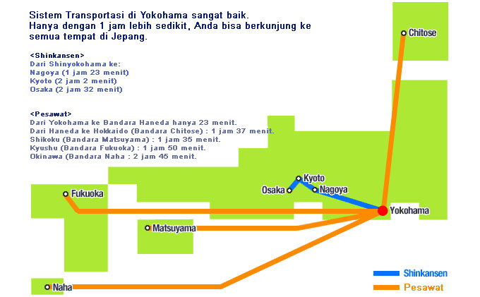 yokohama access map
