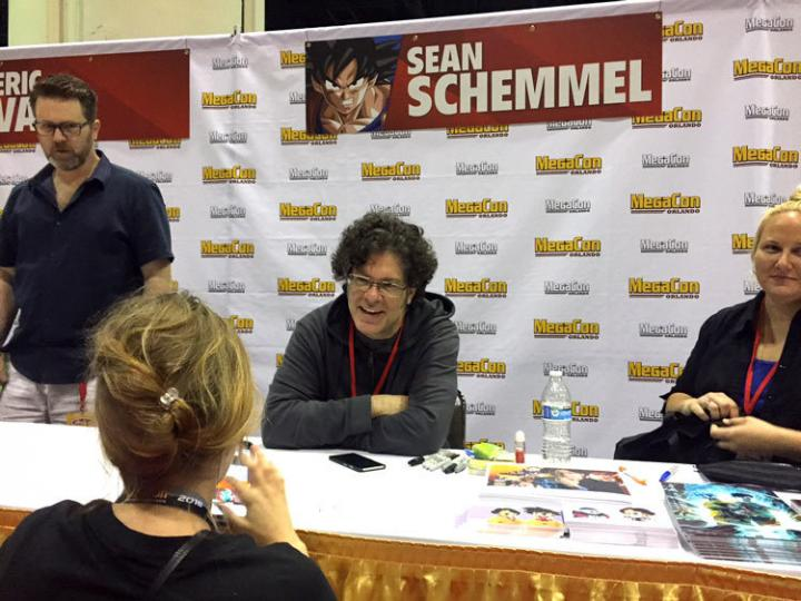 アメリカ版ドラゴンボールの声優さんも大集合! こちらは悟空役の声優 ショーン・シュメルさん