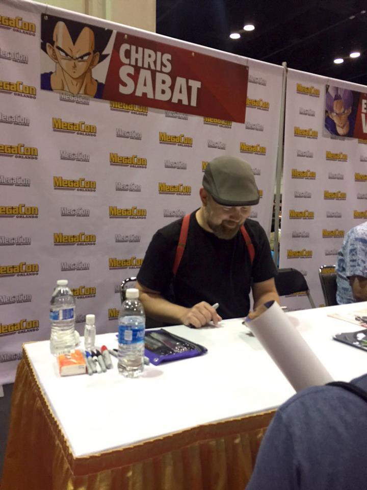 そしてアメリカ版 ベジータ役 クリス・サバト氏! 日米ベジータが隣同士でサイン会。 なんて贅沢!