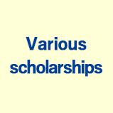 Various scholarships