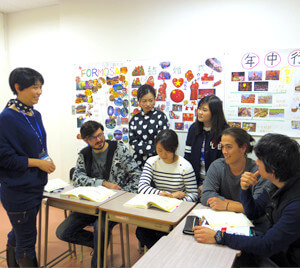 授業は全て日本語! 母国語に頼らないから、上達が早い!
