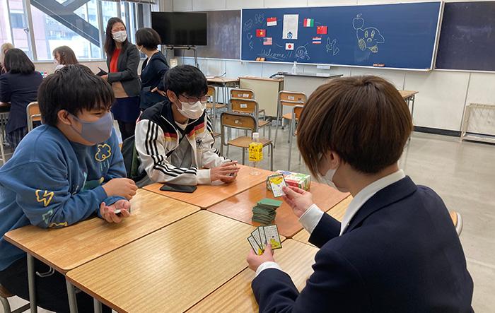 横浜市立みなと総合高等学校の交流会