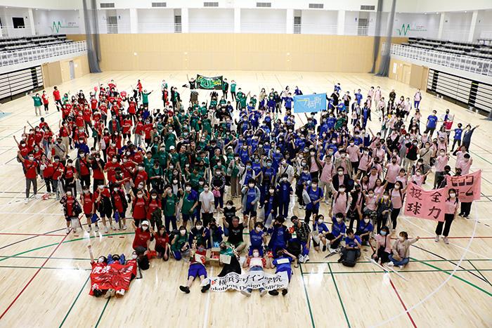 赤・青・緑・ピンクのチームに分かれて競技を行い、今年は赤チームが優勝しました!