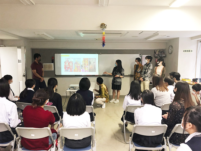 留学生と交流授業を行いました!