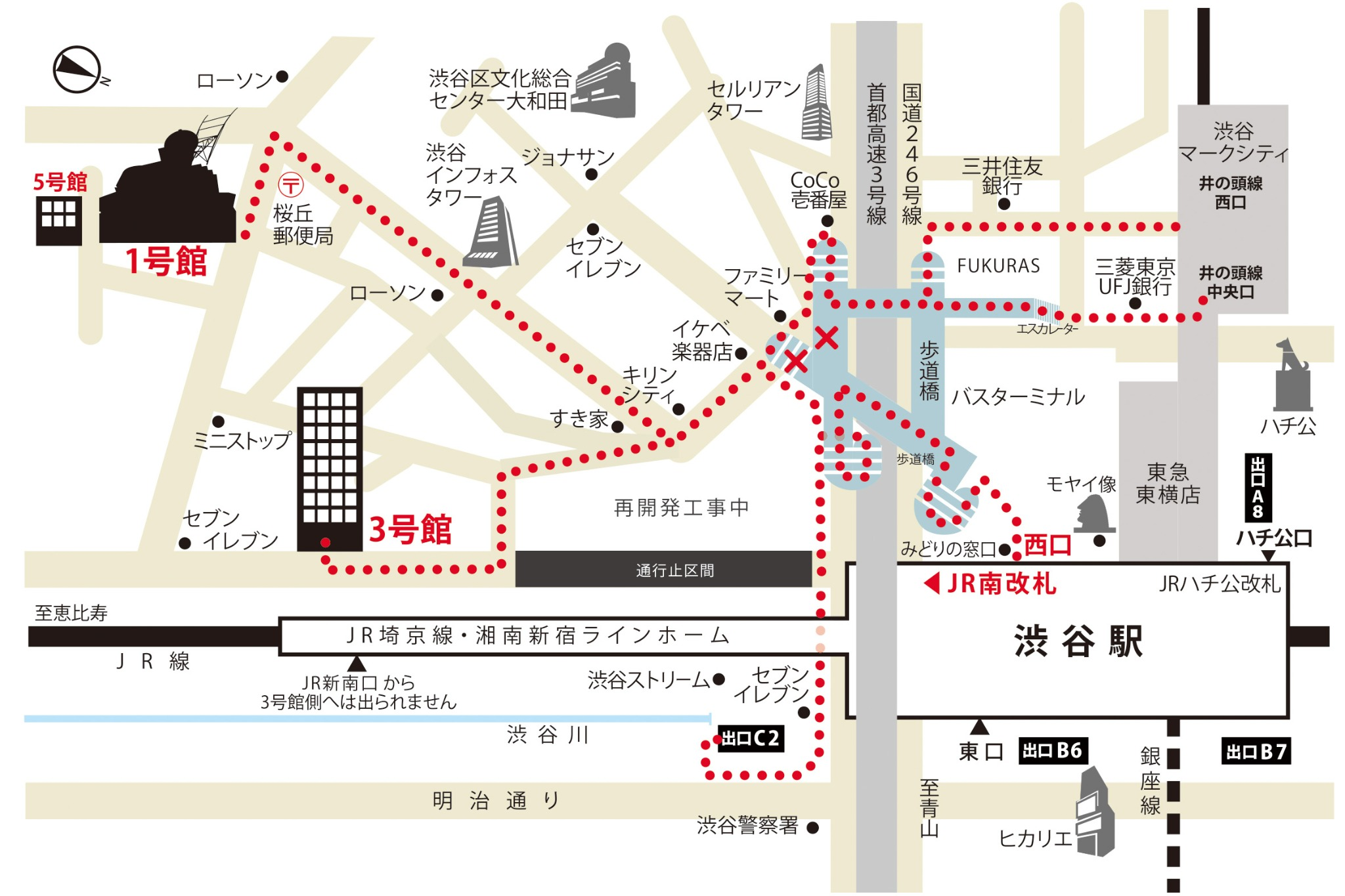 青山製図3号館 案内図