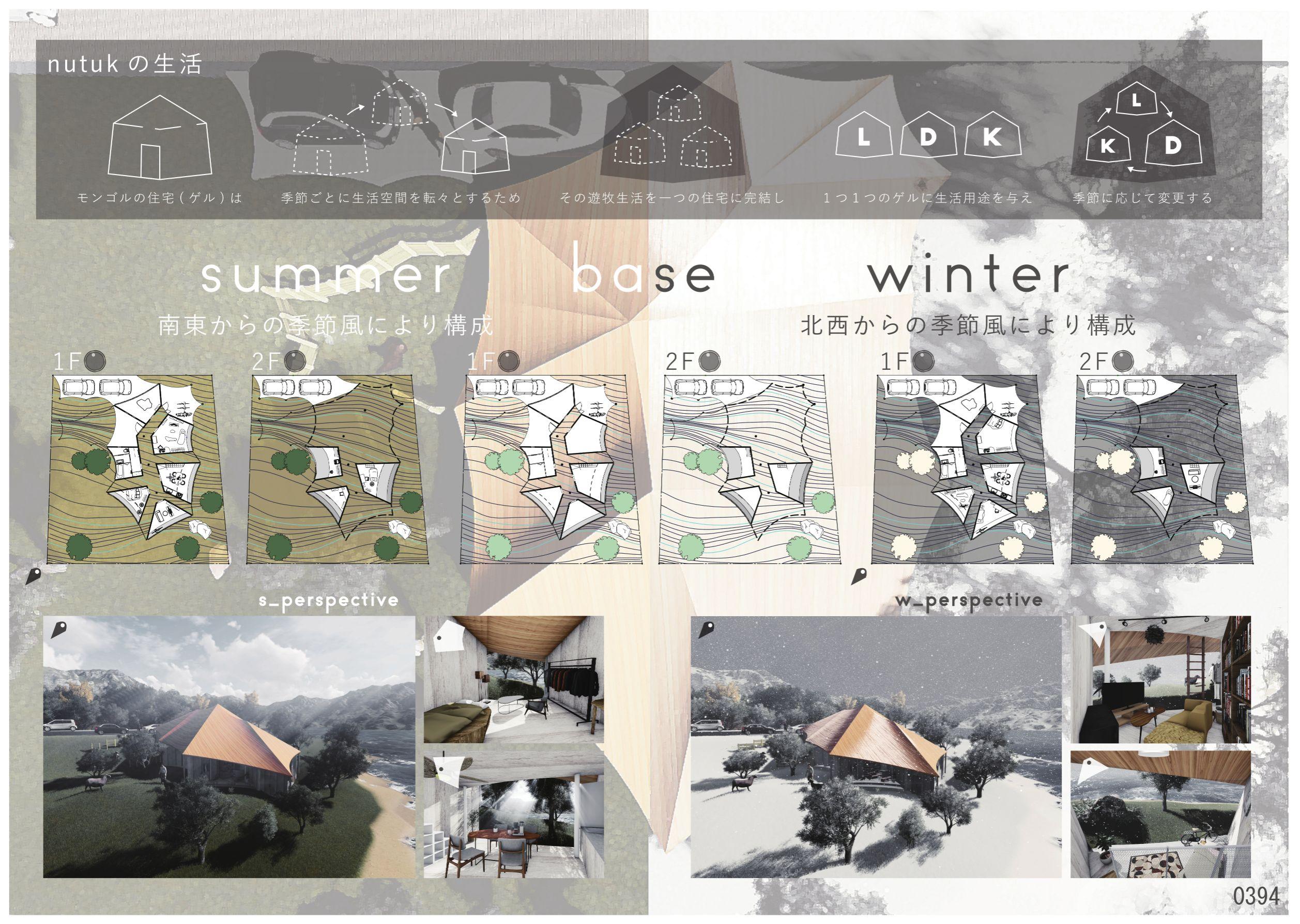 建築新人戦2018 住宅設計デザイン科2年1組