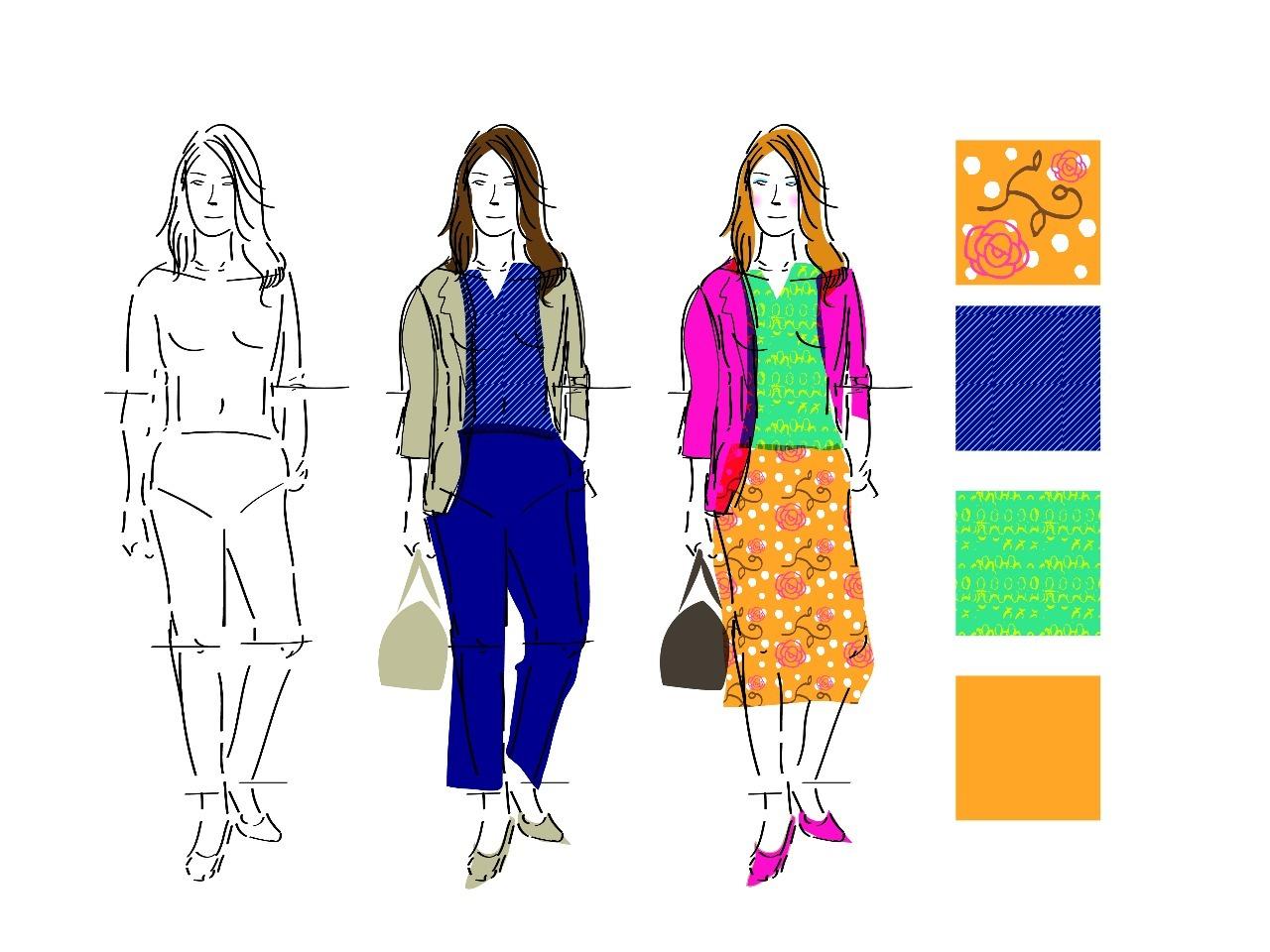 ファッションスタイル画の描きかた講座